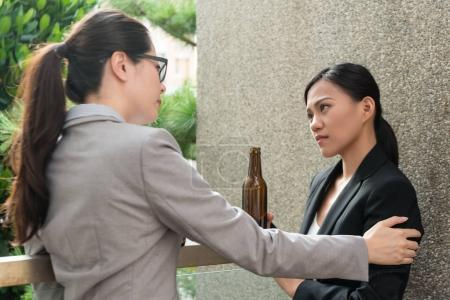 business woman manager help her team