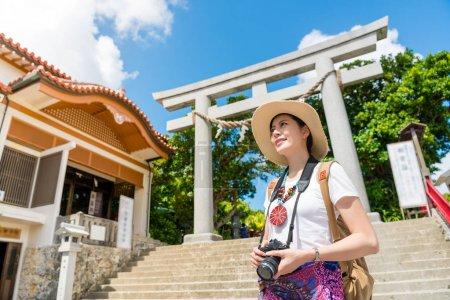 Girl in Naminoue Shrine attraction.