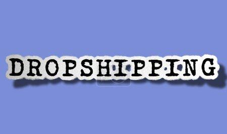 Photo pour Drop shipping  - Flat Ragged Paper Word on Violet Background - Concept Text Illustration - image libre de droit