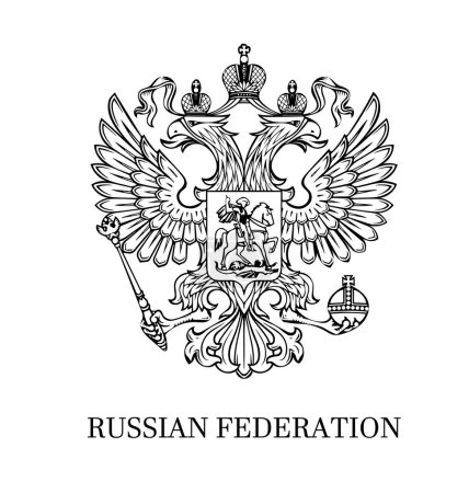 Outlined coat of arms of Russia