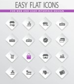 Shop icons set