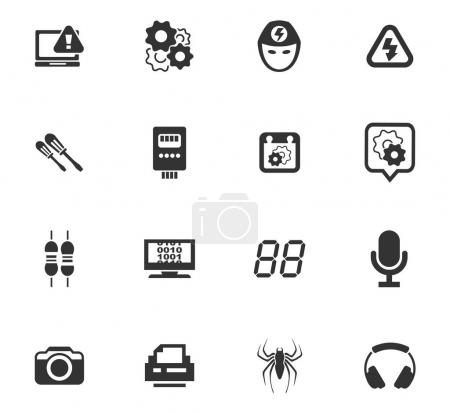 Electronics repair vector icons for user interface...