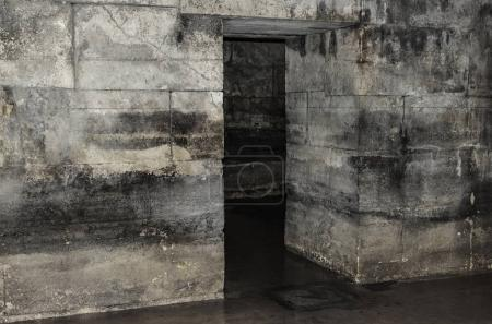 Old abandoned basement in the castle.