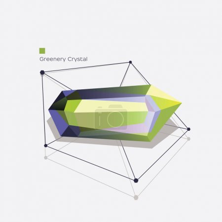 Beautiful abstract crystal shape