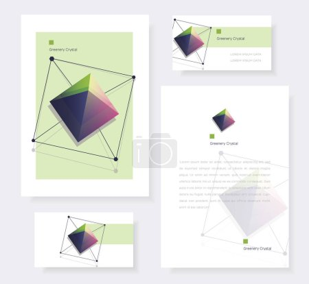 Crystal cards and brochures covers templates