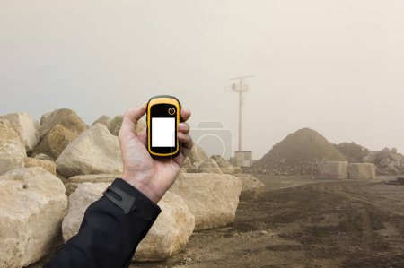 finding the right position inside a construction site via gps