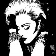 The vector illustration of Madonna singer....