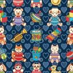 Children's toy. Animals. Seamless pattern. Vector ...
