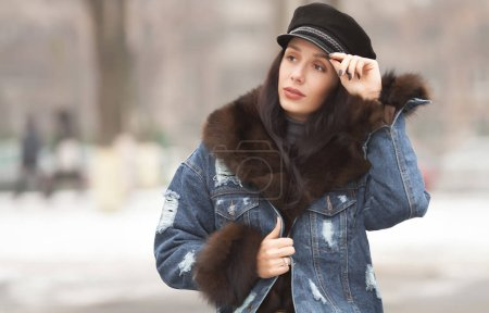 Photo for Young woman winter portrait - Royalty Free Image