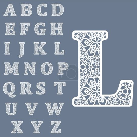 Templates for cutting out letters. Full English al...