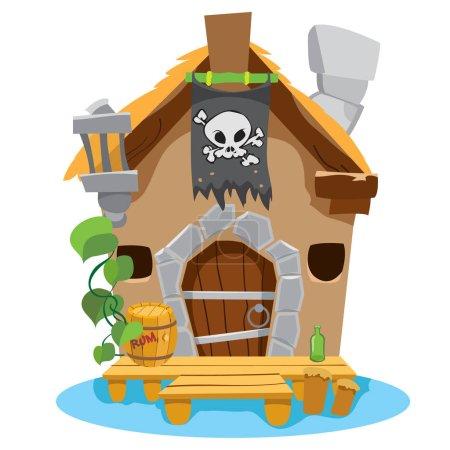Cartoon house sorceress