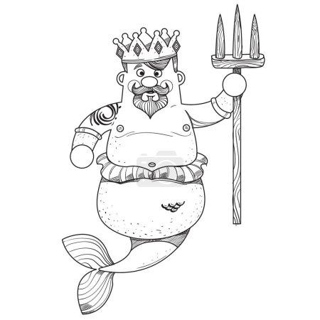 Cartoon character is king of sea