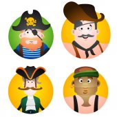 Avatars with pictures of pirates