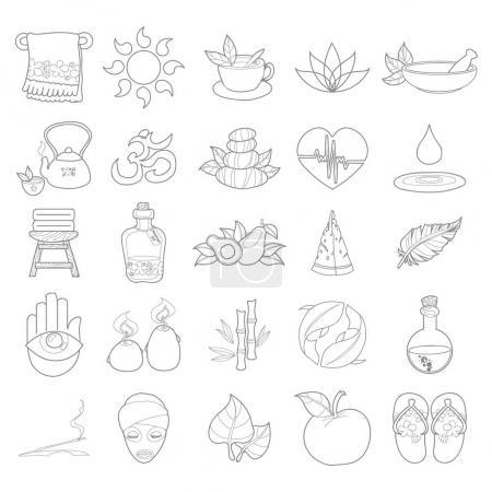 Illustration for Voyage things set, on white background - Royalty Free Image