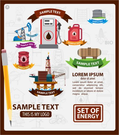 Infographics of energetics, electricity