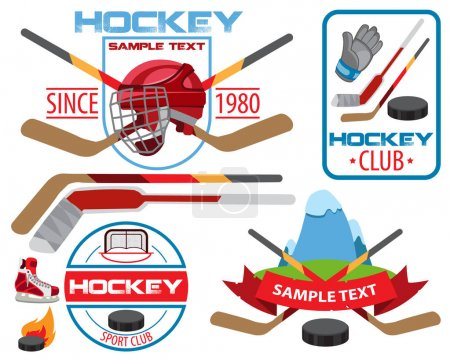 Ice hockey labels