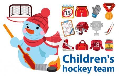 Children's hockey team