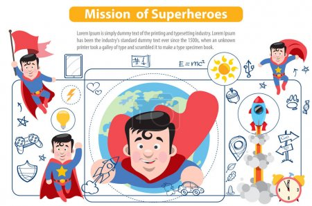 Mission of Superheroes, infographics