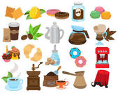 Coffee shop icons restaurant cafe