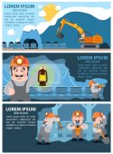 Miners working Infographics