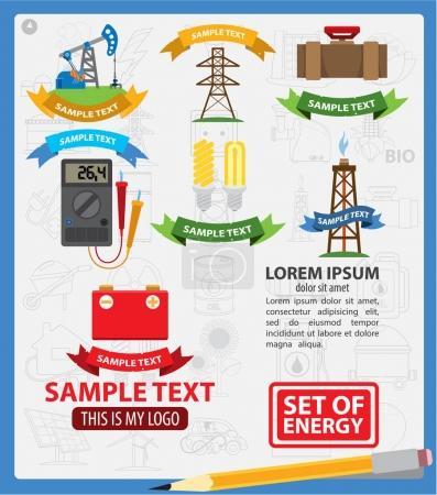 Energetics logos with ribbon