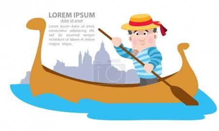 Venice gondola with gondolier