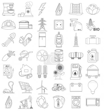 Illustration for Energetics web icons or infographics elements - Royalty Free Image