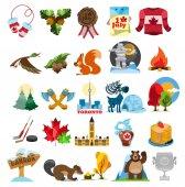 Canada symbols set