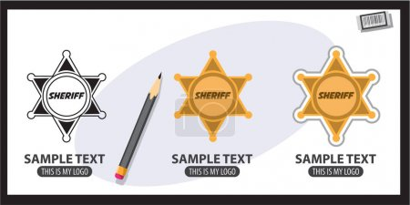 Sheriff badge logos set