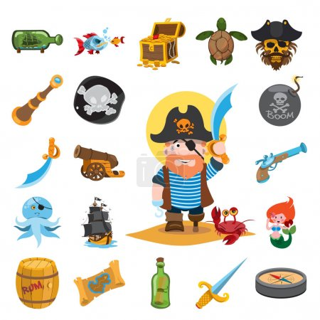Pirate icons set