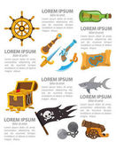 Pirate infographics elements