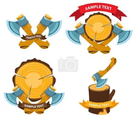 Lumberjack logo label
