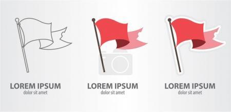 Flag logos set