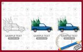 Lumberjack car logos set