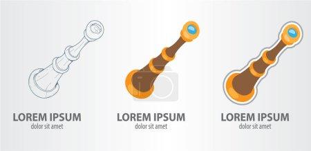Spyglass logos set