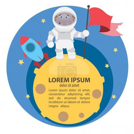 Cosmonaut in open space