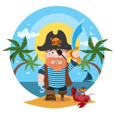 Pirate cartoon character