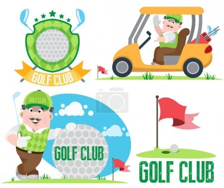 Golf club and golf infographics