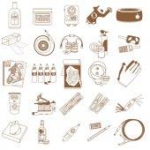 Tattoo studio icons