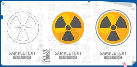 Radiation warning logo