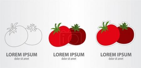 Tomatoes logos set