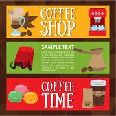 Coffee shop coffee time
