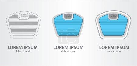 Weighing machine logos set