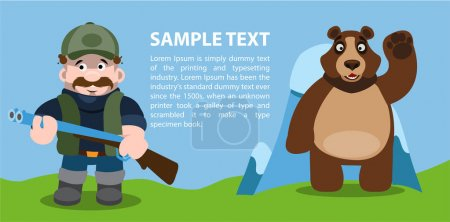 Concept bear and hunter