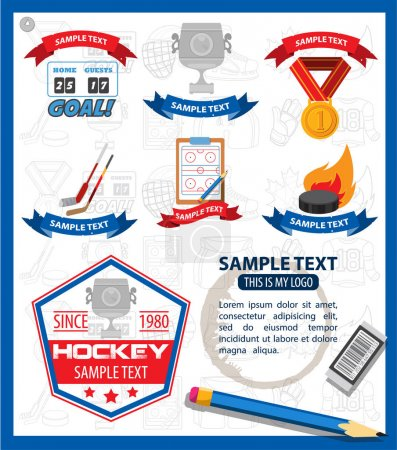 Ice hockey infographics