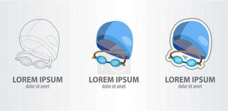 Swimming cap with glasses