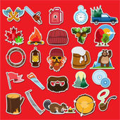 Lumberjack stickers and icons