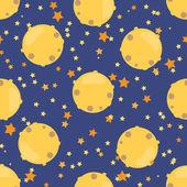 Childish seamless space pattern