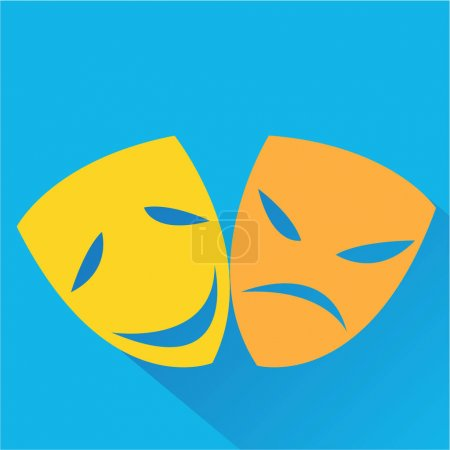 The stylized theatrical masks icon.
