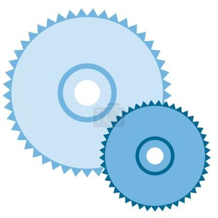 Saw disc, a circular saw.